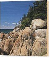 Acadia National Park Maine - Bass Harbor Head Lighthouse Wood Print