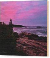Acadia National Park Sunset Wood Print