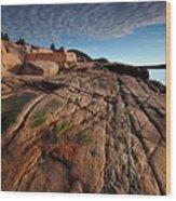 Acadia Rocks Wood Print