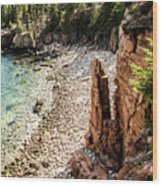 Acadia's Monument Cove Wood Print
