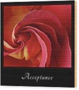 Acceptance 1 Wood Print