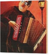 Accordeon Wood Print