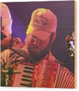 Accordion Player Wood Print