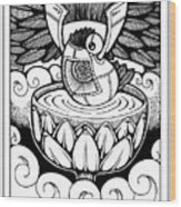 Ace Of Cups Wood Print