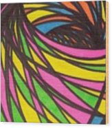 Aceo Abstract Spiral Wood Print