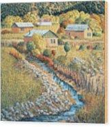 Acequia Del Llano Wood Print