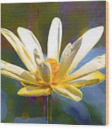 Achievement Of Enlightenment The Golden Lotus Wood Print