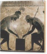 Achilles & Ajax, C540 B.c Wood Print