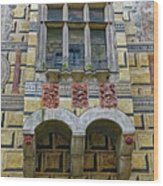 Achitecture Of The Little Castle Within Cesky Krumlov In The Czech Republic Wood Print