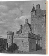 Ackergill Tower 1119 Bw Wood Print