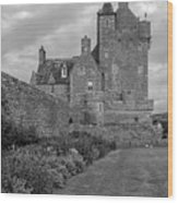Ackergill Tower 1173 Bw  Wood Print