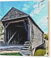 Ackley Covered Bridge Wood Print