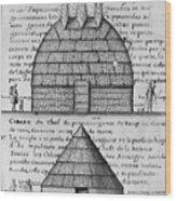 Acolapissa Temple & Cabin Wood Print