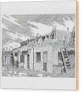Acoma Sky City Wood Print