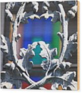 Acorn Ironwork Wood Print