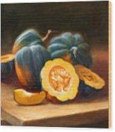 Acorn Squash Wood Print