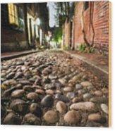 Acorn Street Cobblestone Detail Boston Ma Wood Print