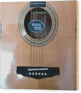 Acoustic Guitar - Front Wood Print