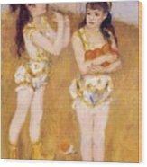 Acrobats At The Cirque Fernando Francisca And Angelina Wartenberg 1879 Wood Print