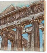 Acropolis I Wood Print
