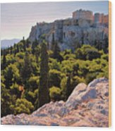 Acropolis In The Morning Light Wood Print