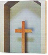 Across A Cross Wood Print