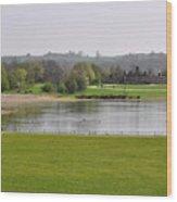Across Carsington Water To Stones Island Wood Print