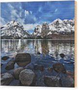 Across Jenny Lake Wood Print