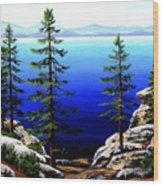 Across Lake Tahoe Wood Print