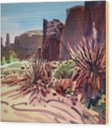 Across Monument Valley Wood Print