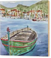 Across The Bay Wood Print