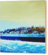 Across The Dam To Boathouse Row. Wood Print