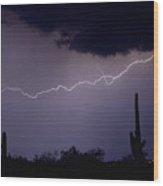 Across The Desert Wood Print