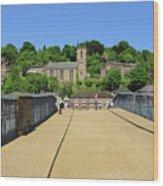 Across The Iron Bridge Wood Print