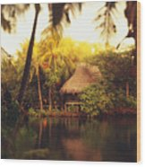 Across The Lagoon Wood Print