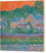 Across The Marsh At Pawleys Island       Wood Print
