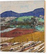 Across The Meadow Wood Print by Martha Ressler