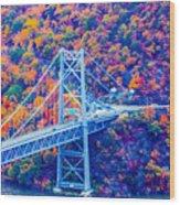 Across The Other Side Of Bear Mountain Bridge Wood Print