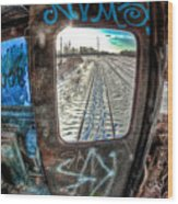 Across The Tracks Wood Print