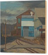Across The Tracks Wood Print by Martha Ressler