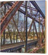 Across The Water 6th Street Rr Bridge Augusta Georgia Art Wood Print