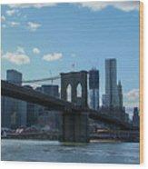 Across To Manhattan New York New York Wood Print