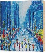 Across Town Wood Print