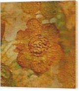 Acryl Painting Goldflowers Wood Print