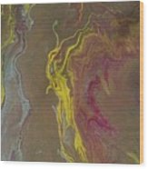 Acrylic Pour 2855 Wood Print by Sonya Wilson