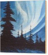Actic Aurora Wood Print