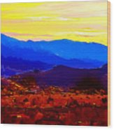 Acton California Sunset Wood Print