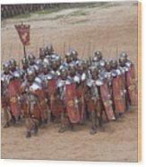 Actors Re-enact A Roman Legionaries Wood Print by Taylor S. Kennedy