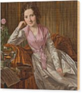 Actress Therese Krones Wood Print
