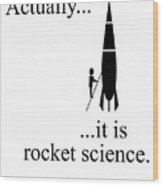 Actually... It Is Rocket Science. Wood Print